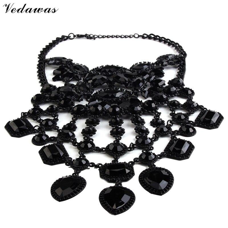 Vedawas módní šperky ženy černé DIY drahokamu korálky límec - Bižuterie - Fotografie 4