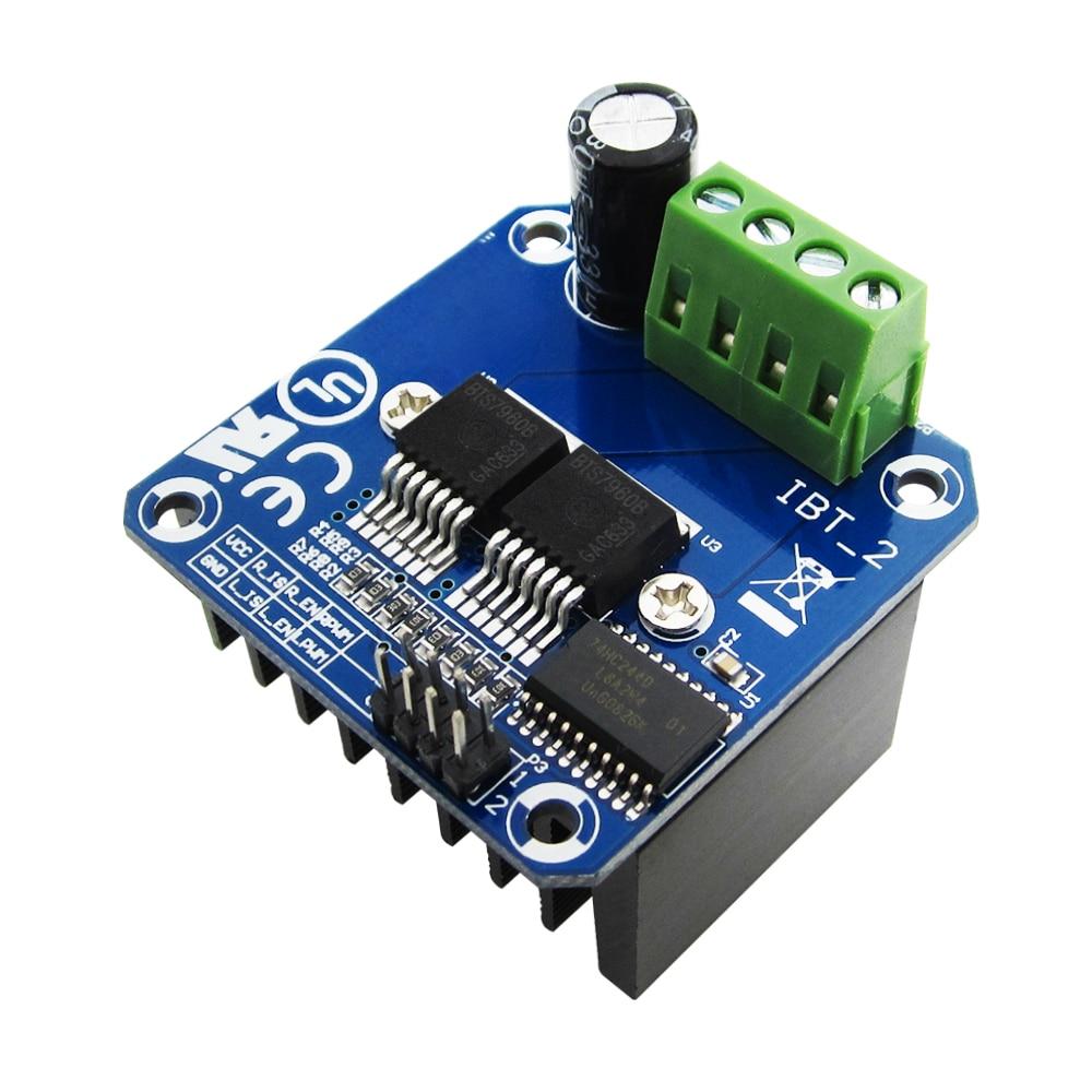 1pcs Double BTS7960 43A H-bridge High-power Motor Driver module- diy smart car Current diagnostic