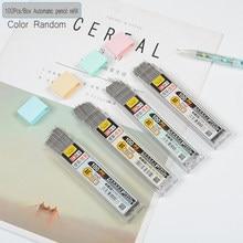 Crayon mécanique 2B avec plomb en Graphite, 100 pièces/boîte 0.5/0.7mm, remplacement de crayon mécanique effaçable, recharge pour écriture lisse papeterie de dessin
