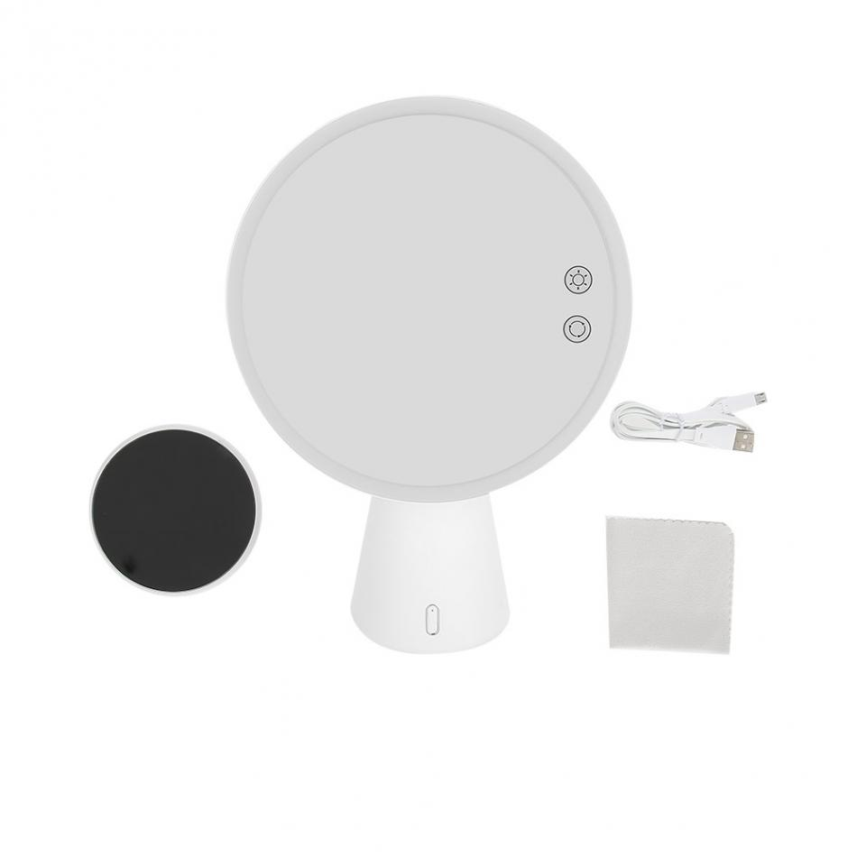 Multifunctional Led Makeup Mirror Lamp Magnify Light Up With Bluetooth Audio Table Lamp Usb Charger Lights & Lighting