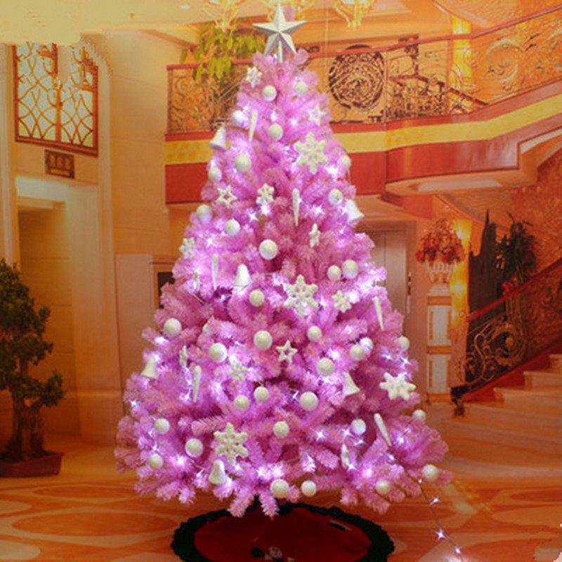 Christmas Tree Pink Decorations. A Colorful Christmas Tree With ...
