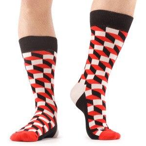 Image 4 - SANZETTI 12 paren/partij mannen Casual Grappige Kleurrijke Gekamd Katoenen Sokken Rode Argyle Dozijn Pack Gelukkig Sokken Neiging Jurk Bruiloft sokken
