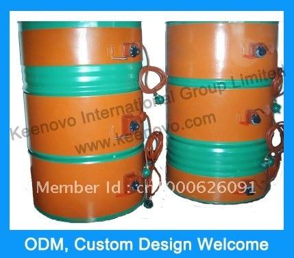 250*1740 мм гибкий барабан для Силиконового Масла Нагреватель Кремния 55 галлонов/200 литров барабанов гарантия 1 год и сертификат