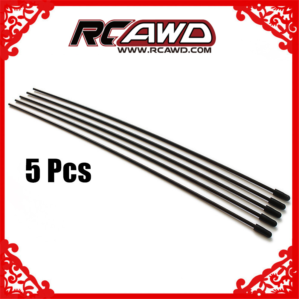 5 Pcs/set Plastic Antenna Pipe Tube Receiver Aerial w/cap for 2.4ghz receivers 1/5 1/8 1/10 RC car spare parts