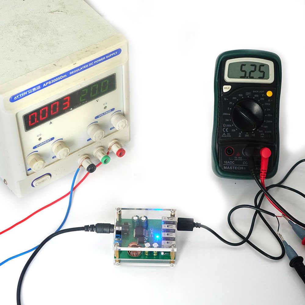 Convertisseur abaisseur 5V Module abaisseur 6/4/2 canaux convertisseur abaisseur de sortie USB pour Robot maison intelligente