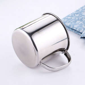 Stainless Steel Coffee Tea Mug Cup-Camping/Travel Outdoor Drinking 200/380ML