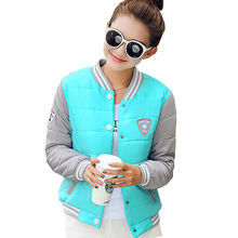 Nice Women Winter Basic Jacket Female Spring Baseball Uniform Thin Short Coat Cute Outerwear Jaqueta Feminina Cotton Parka