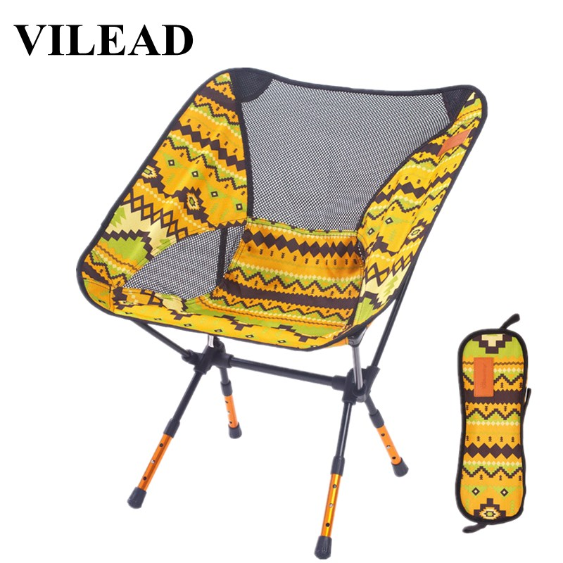 VILEAD 4 Colors  Adjustable Camping Chair Portable 7075 Aluminum Folding Ultralight Picnic Fishing Outdoor Beach bearing 150 kg-in Camping Chair from Sports & Entertainment