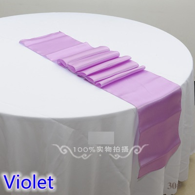 violet colour wedding table runner decoration satin table runner for modern party home hotel banquet decoration wholesale in table runners from home