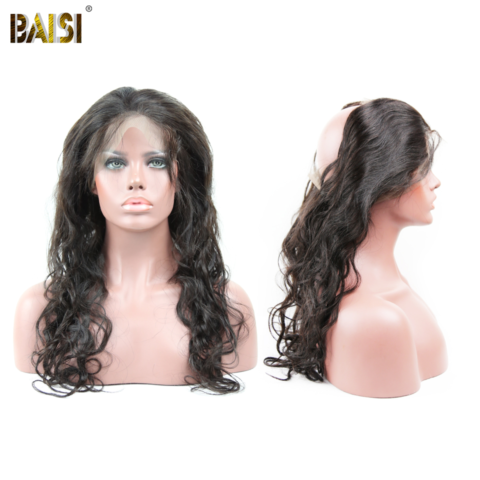 BAISI 360 Lace Frontal Natural Hairline With Baby Hair Peruvian Water Wave 100% Human remy Hair  Soft and Full,Free Shipping
