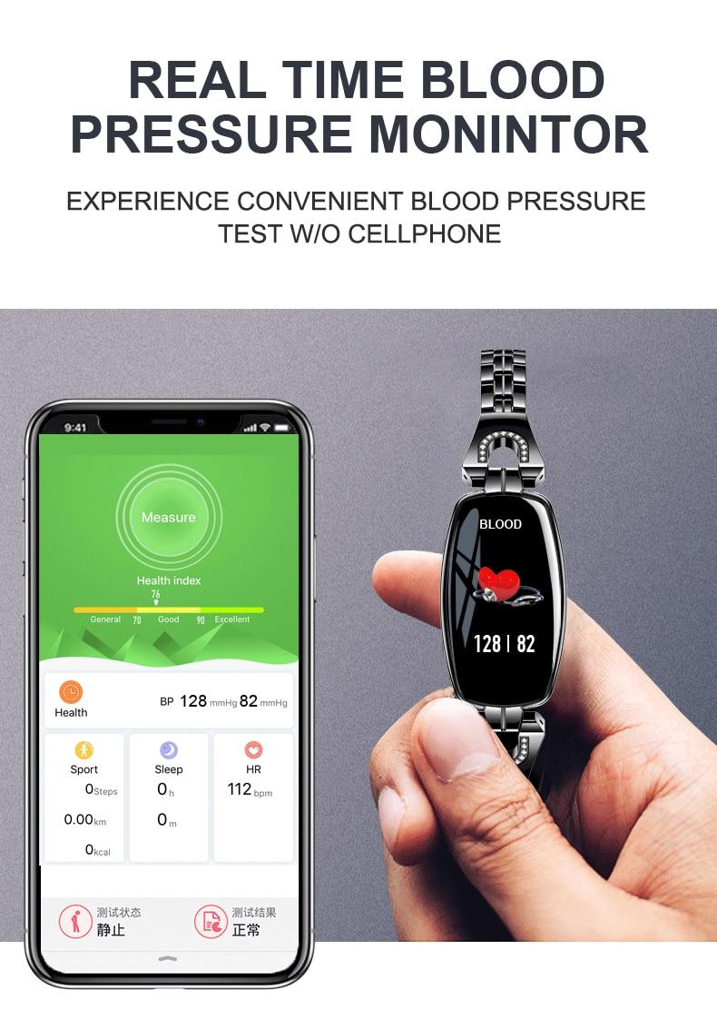 IP67 H8 Women Fashion Smart Wristband Heart Rate Blood Pressure Smart Bracelet Fitness Tracker Smart Watch Women Reloj Mujer 13