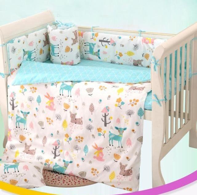 7 Stück Kinderbett bettwäsche set für neugeborene Infant Zimmer ...