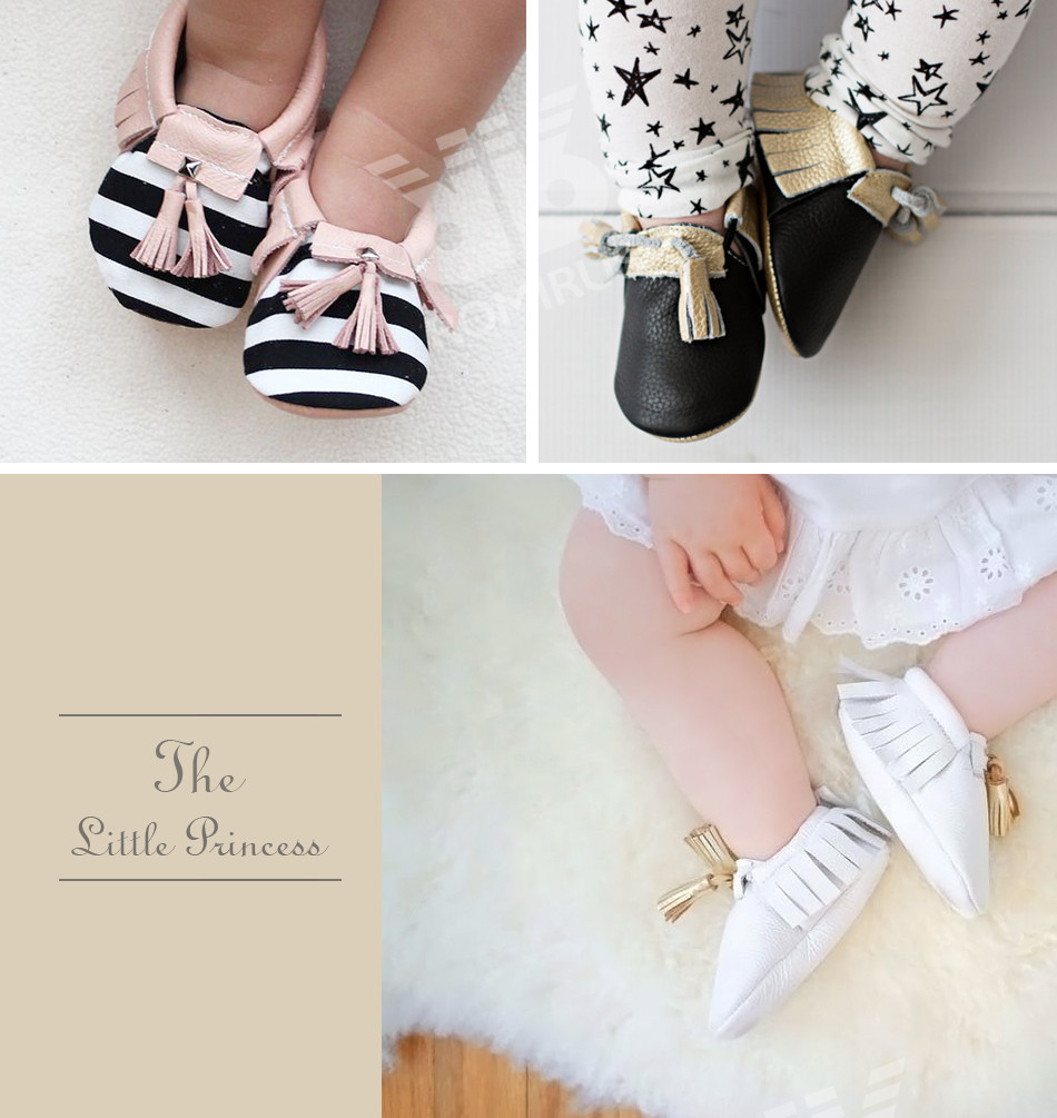 Hot PU Suede Leather Newborn Baby Boy Girl Baby Moccasins Soft Moccs Shoes Bebe Fringe Soft