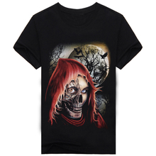 2017 New Fation Arrival Summer Creative 3d Printing Skull T Shirt Men 100% Cotton Men's Casual Brand Shirt Slim Fit Tees A127