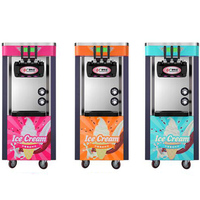 2100 W Otomatik Üç Renkli Dikey Dondurma Makinesi Akıllı Tatlandırıcı Dondurma Makinesi BJ918CW-D2