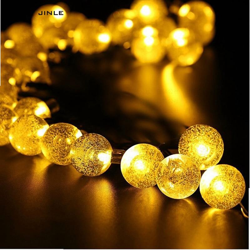 2M 20 LED Accubak Lichtslang Outdoor bubble Kristallen bol - Vakantie verlichting - Foto 2