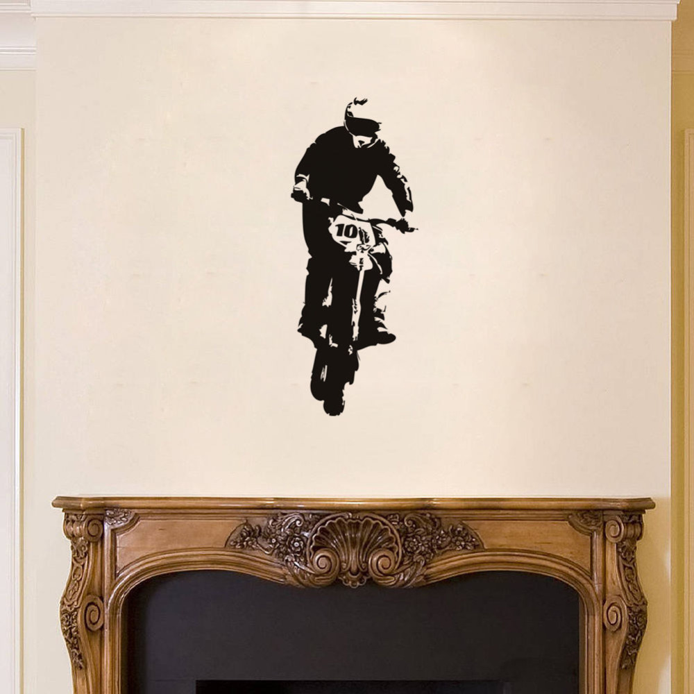 compare prices on dirt bike wall stickers online shopping buy low motorcycle ride vinyl wall stickers decal sticker bedroom nursery dirt sport bike decor kids boys room