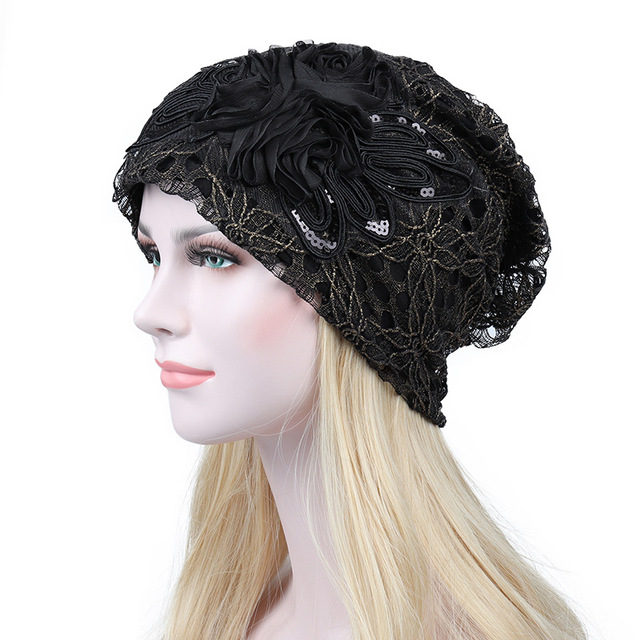 e606e4a9 Mingjiebihuo New fashion set Ms. spring and autumn hollow lace hat female  thin summer breathable