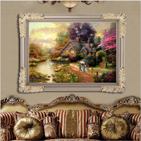 CNA New 5D Diy Diamond Painting Full Square Diamond Drill Europen Style Castle Scenery House Embroidery Home Decor