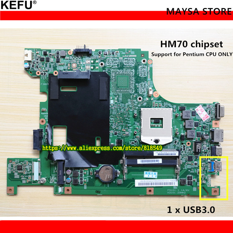 Original B590 laptop motherboard HM70 UMA PGA989 DDR3 Fit for Lenovo B590 Notebook PC system board Fully tested kefu b590 mainboard for lenovo b590 b580 laptop motherboard pga989 hm70 test work 100
