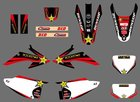 GRAPHIC BACKGROUND Decals For Honda CRF150 CRF230 CRF150F CRF230F 2008 2009 2010 2011 2012 2013 2014 CRF 150 150F 230 230F