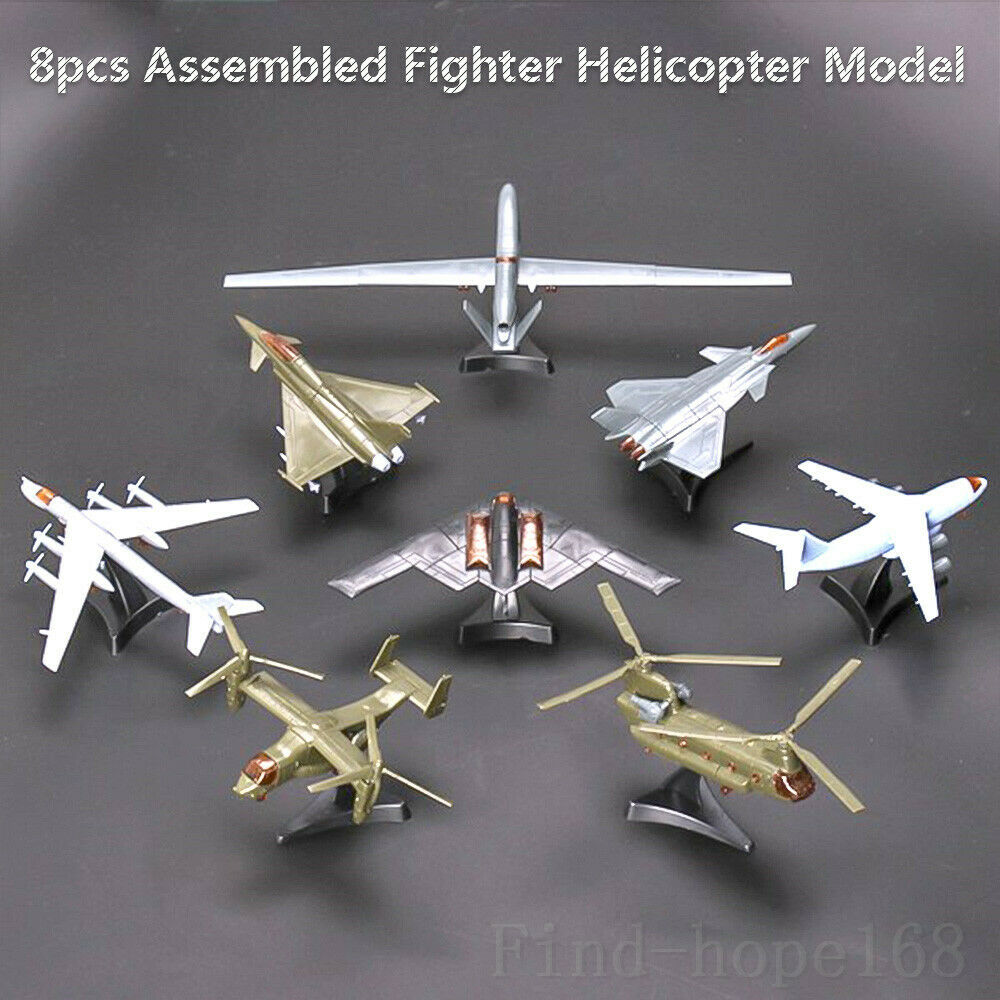 4D Helicopter Aircraft Plane Assembly Model V-22 Osprey Y-20 J-20 RQ-4A Global Hawk Puzzle Building Figure Action 1:165
