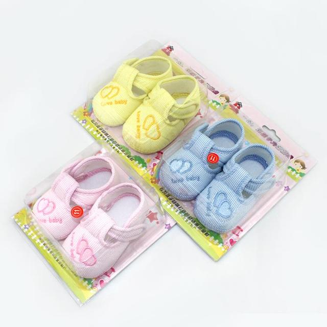 Cotton Lovely Baby Shoes Toddler Unisex Soft Sole Skid-proof 0-12 Months Kids Infant Shoes Newest 2019 4