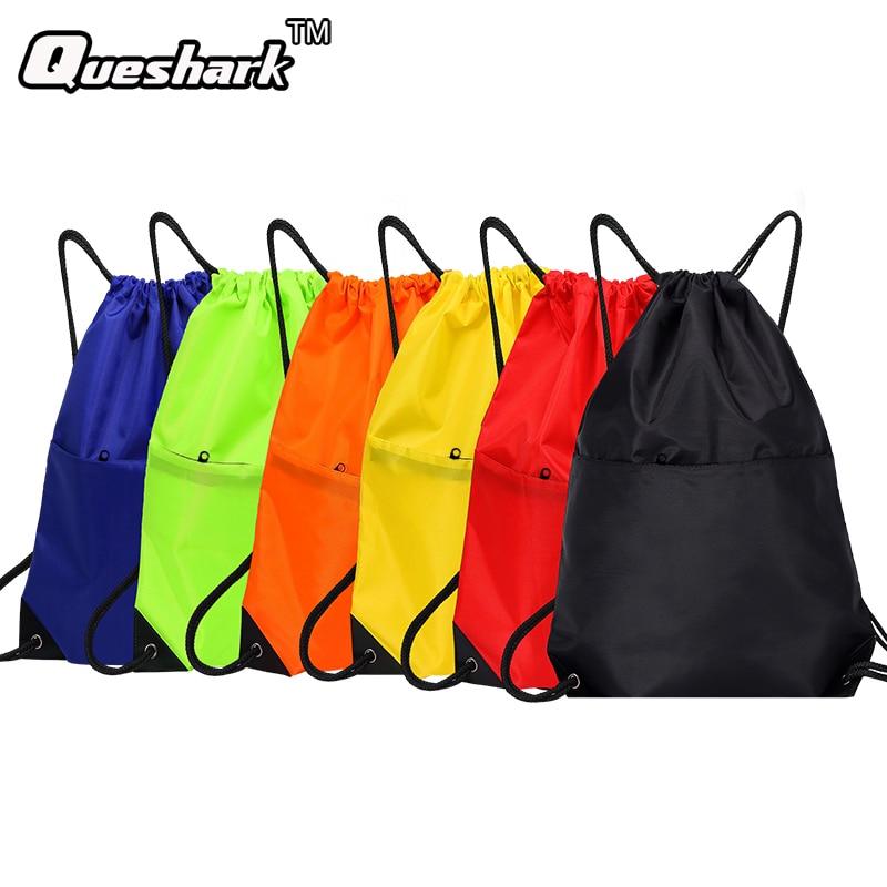 Waterproof Zipper Gym Sport Fitness font b Bag b font Foldable Backpack font b Drawstring b
