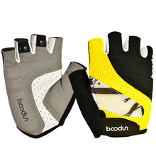Boodun New Type of Bicycle Gloves Breathable Non Slip Wear Semi Finger Mountain Bike Riding for Men and Women