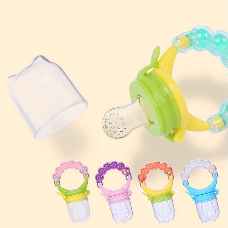 Pacifier-Clip Nipples Feeding-Teat Food-Nibbler-Holder Silicone Soother Fruit Nimbler