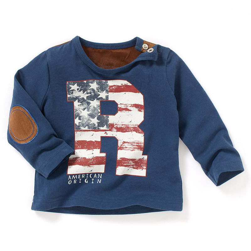 kidst shirt 2016 new babys' fashion t shirts baby letter R printed floral boys girls t-shirts children casual clothing