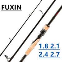 FUXIN 1.8 m 2.1 m 2.4 m 2.7 m M canne à pêche filature coulée voyage Ultra léger 3 Section canne à pêche leurre Vara De Pesca ML/m/MH