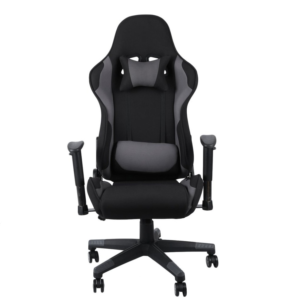Ergonomic High Back Racing Chair Adjustable Fabric Executive Computer Chair  Revolving Home Office Furniture