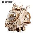 Robotime творческий DIY 3D космический автомобиль игра деревянная головоломка сборки игрушка в подарок для детей и подростков взрослых AM681