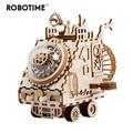 Robotime FAI DA TE Creativo 3D Veicolo Spaziale di Legno Gioco Di Puzzle di Montaggio Del Giocattolo Regalo per I Bambini Ragazzi Adulti AM681