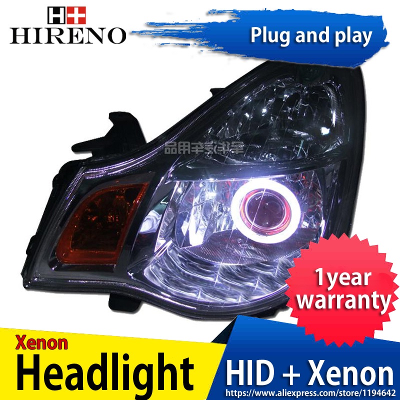 Car custom Modified Xenon Headlamp for Nissan Sylphy Sentra 2006-2011 Headlights Assembly Car styling Angel Lens HID 2pcs hireno headlamp for mercedes benz w163 ml320 ml280 ml350 ml430 headlight assembly led drl angel lens double beam hid xenon 2pcs