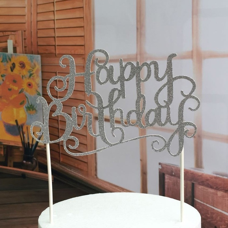 Online Shop Fashion New Style Happy Birthday Party Cake Toppers