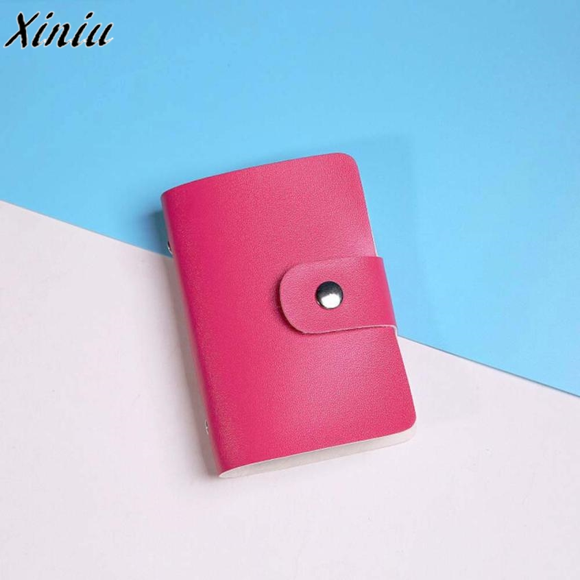 Men Women Card Holder Multi-colors Leather Hasp Credit Card Holder Case Card Holder Small Fresh Card Case Porta Tarjetas #7205