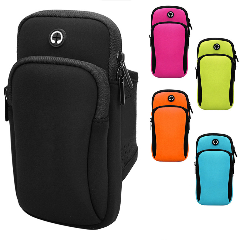 Running Wrist Band Bag for iphone Outdoor Sports Phone Arm Package Hiking Cell Strap Pocket Armband Bags Cover