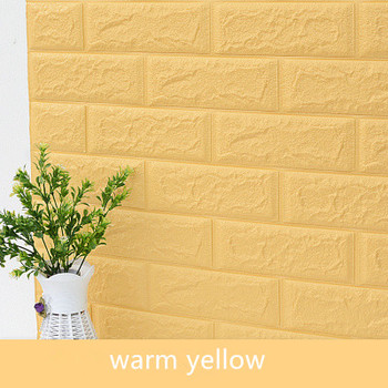 DIY Self Adhensive 3D Brick Wall Stickers Living Room Decor Foam Waterproof Wall Covering Wallpaper For TV Background Kids Room 8