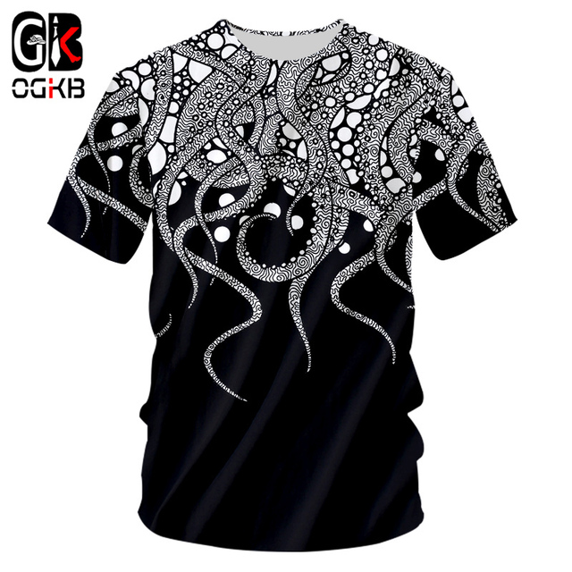 6696c9816f4 OGKB New Cool Printing Tentacle Octopus 3d Tshirt For Men women s Casual T- shirt Homme Hiphop Punk O Neck Tee Shirts 7XL