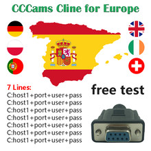 CCCams Spanje 7 Clines meest stabiele CCCams Server HD voor Satelliet TV Receptor Freesat V7 HD Astra Hotbird CCCams Duitsland(China)
