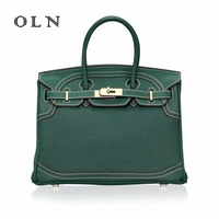 OLN Luxury Gold Lock Bags Handbags Women Famous Brands Genuine Leather Designer Lace Side High Quality Crossbody Bags For Women