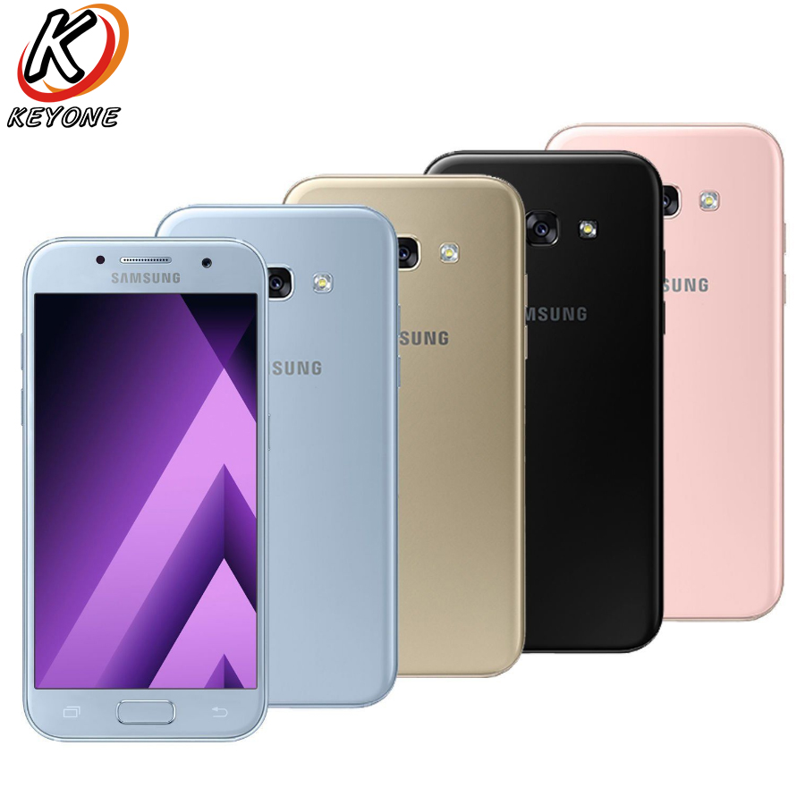 """Brand New Samsung Galaxy A7 2017 A720F-DS 4G LTE Mobile Phone 3GB RAM 32GB ROM 5.7"""" Octa Core 1.9GHz 3600 mAh Android Cellphone"""