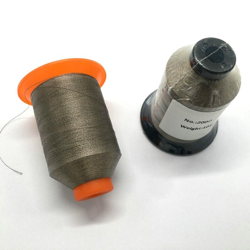 Fil à coudre conducteur antistatique en fibre d'argent
