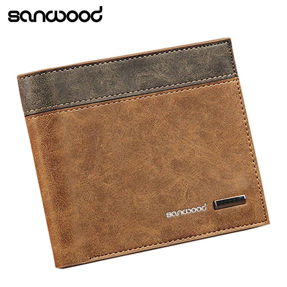 2016 Hot Selling Mens Faux Leather Wallet ID Credit Card Holder Money Purse Clutch Pocket Gift