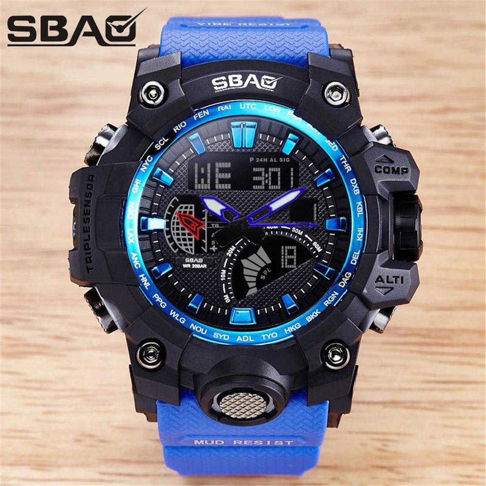 Logisch Top Luxus Marke G Stil Männer Military Sport Uhren Dual Display Herren Quarz Armbanduhr Männer Wasserdichte Digital Uhr Relogio