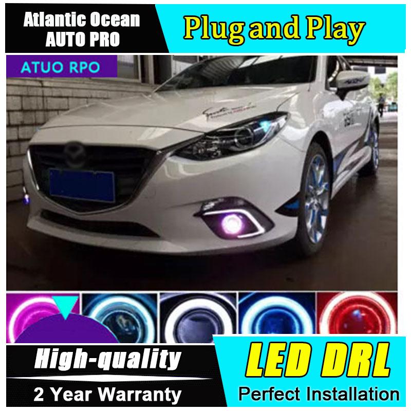 JGRT Car Styling for Mazda 3 Axela LED DRL For Mazda 3 LED fog lights daytime running lights cover LED Fog lamp Lens lights jgrt car styling for mazda 3 axela led drl for mazda 3 axela led fog lamps daytime running light high brightness guide led drl
