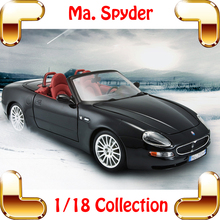 New Year Gift Spyder 1/18 Model Car Metallic Model Scale Vehicle Luxury House Decoration Toy Car Alloy Simulation Present