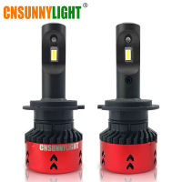 CNSUNNYLIGHT High LPW Mini Type LED Car Headlight Bulbs H4 H7 H11/H8 H1 9005 9006 880 H3 60W/set 5500K Auto Headlamp Fog Light